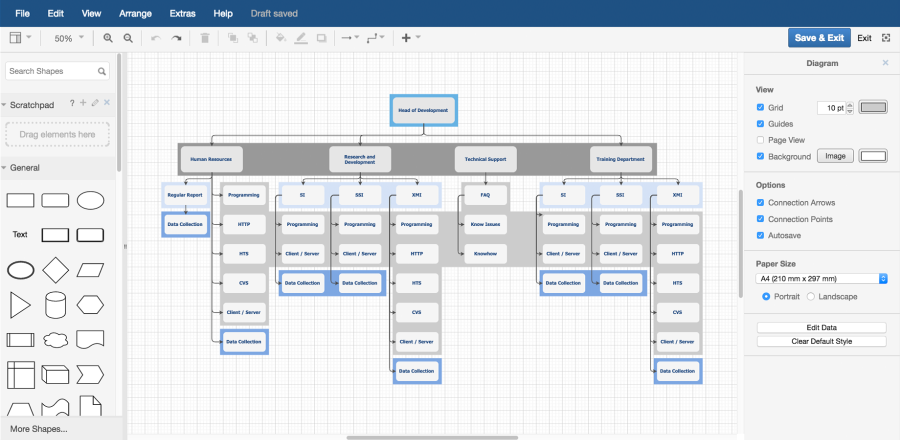 Create an Org-Chart in draw.io