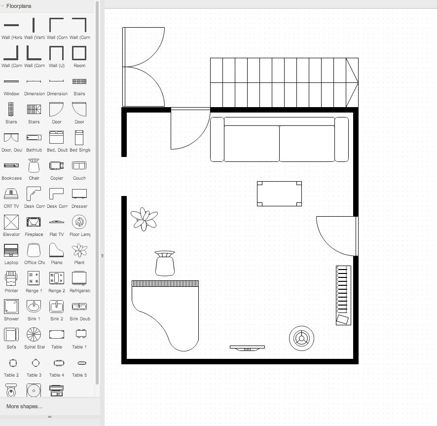 draw.io Floorplan stencils - draw.io