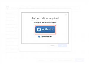 Authorize draw.io to use GitHub
