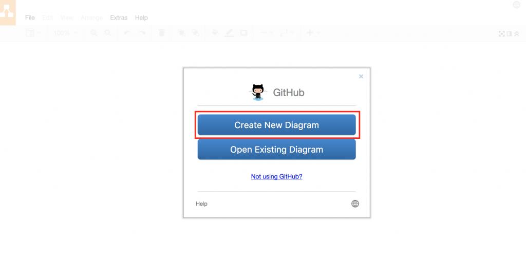 Create new draw.io diagram using GitHub