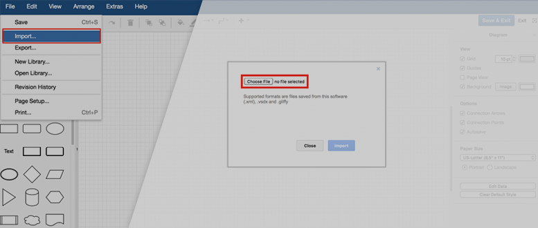 Diagramming In Confluence Vsdx Import For Draw Io Draw Io