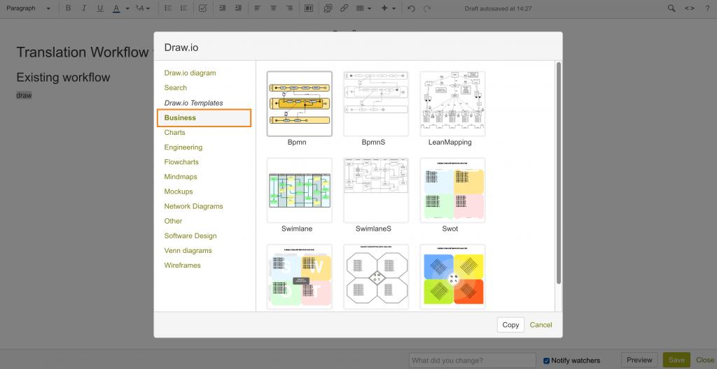 draw.io - Business diagram templates