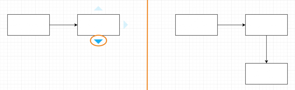 draw.io - duplicate shape with an automatic connector