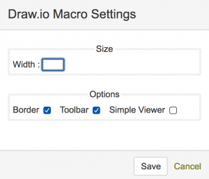 draw.io - edit macro settings