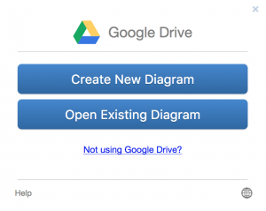 draw.io - Google Team Drives - Create a new diagram or open an existing diagram