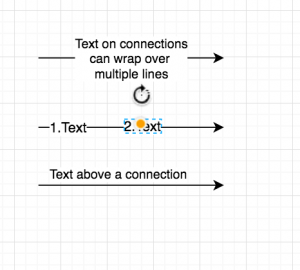draw.io - text labels on connectors