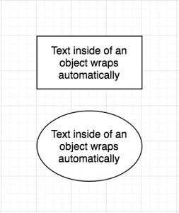 draw.io - text wraps automatically inside objects