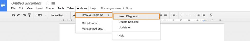 Insert draw.io diagram in Google Docs
