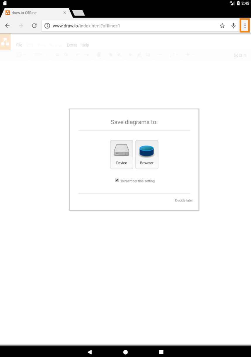 Use draw io on a Tablet – draw io