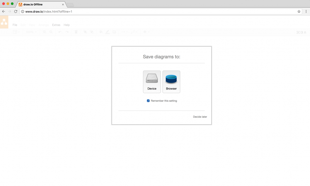 draw.io - Offline in Chrome