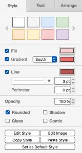 draw.io-正式面板中的样式选项卡