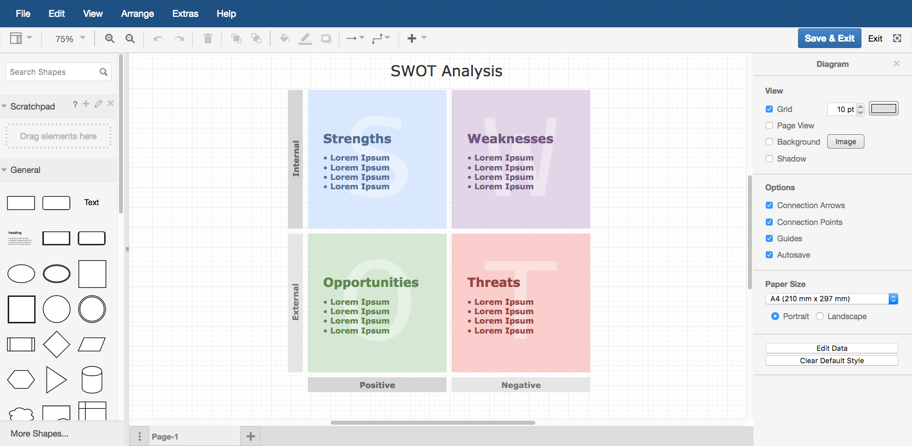 Examples draw swot diagram pooptronica Images