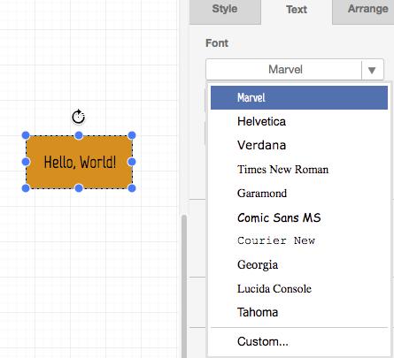 draw.io customization - use a custom font by default