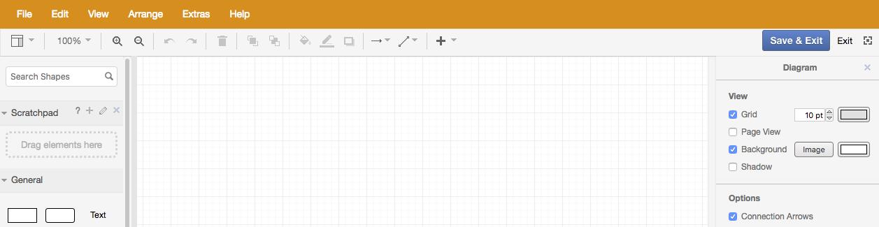 draw.io - customized menu bar