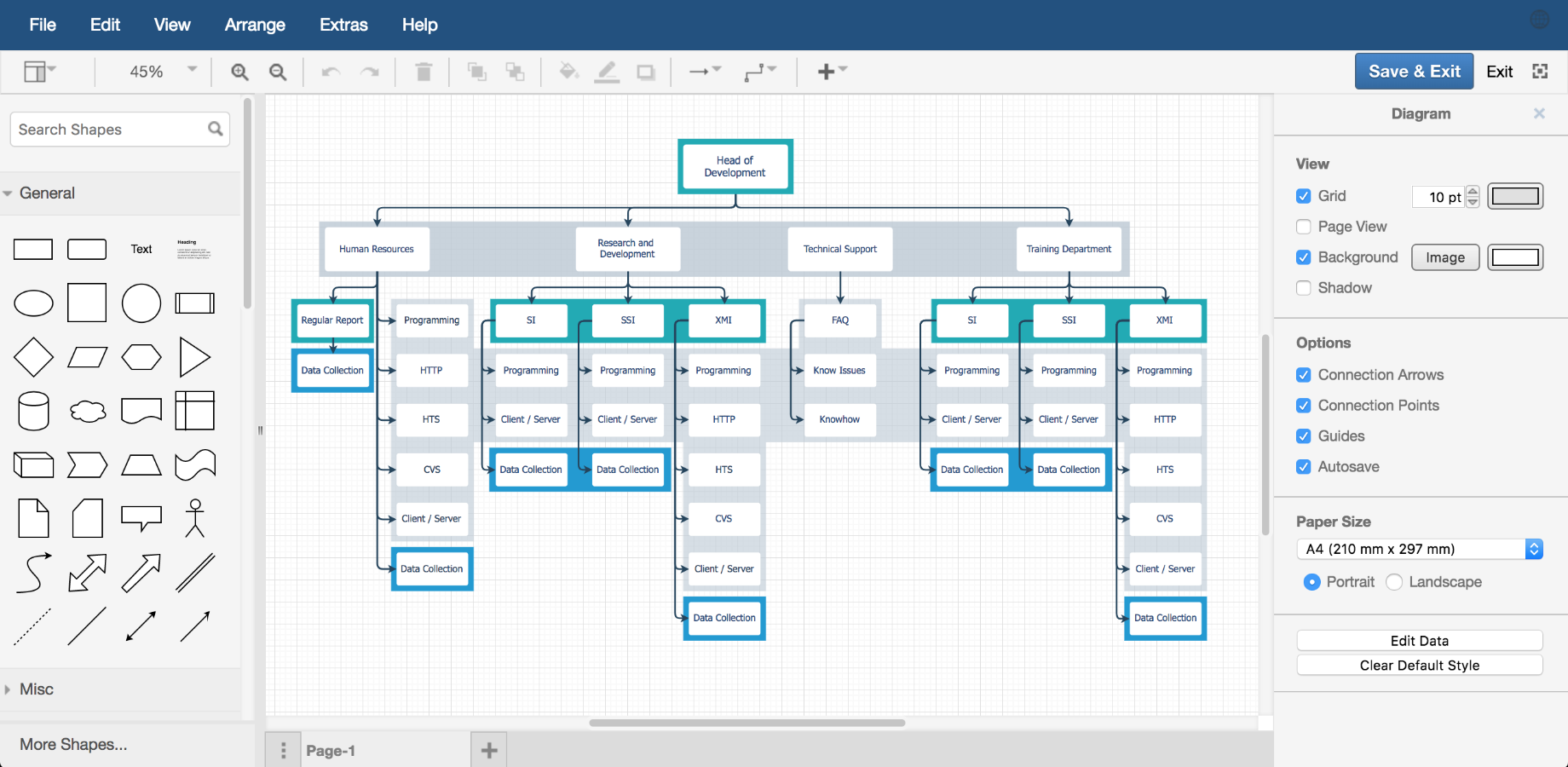 Examples Drawio Into How The Diagram In Link Maps To A Circuit Like This Org Chart