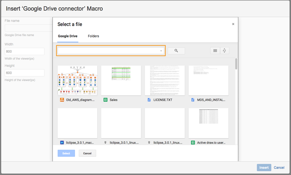 Google Drive Connector for Confluence Cloud – draw io