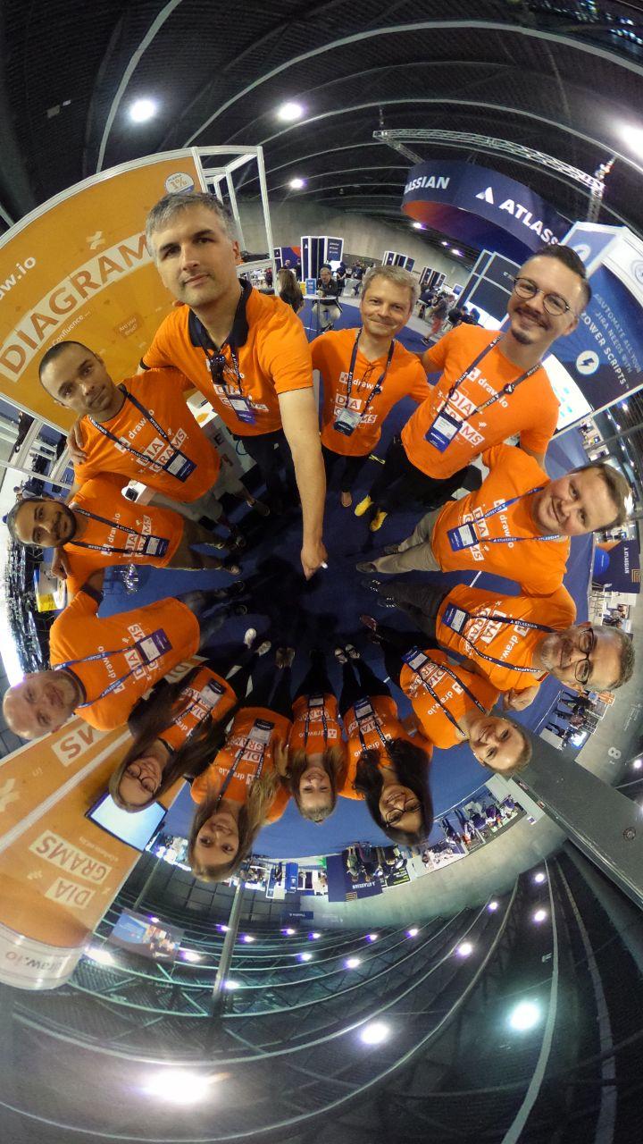 The draw.io team at Summit Europe 2018
