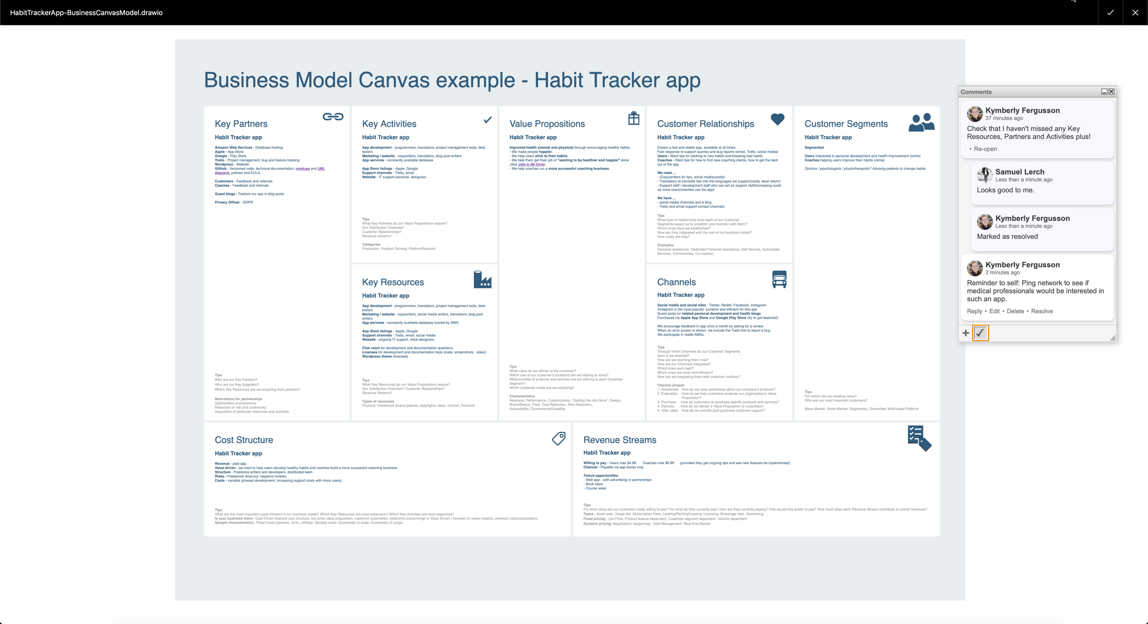 Comment on draw io diagrams in Confluence Cloud – draw io