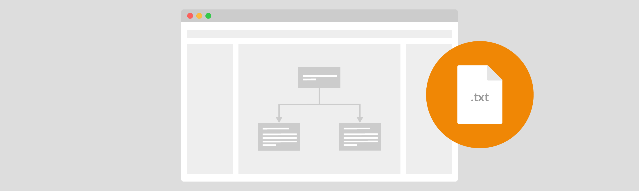 Using the draw.io text plugin, you can extract the text directly from any flowchart, diagram, or even infographic.