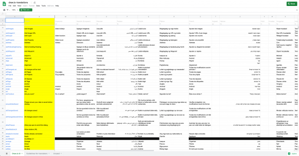 draw.io translations in a Google sheet