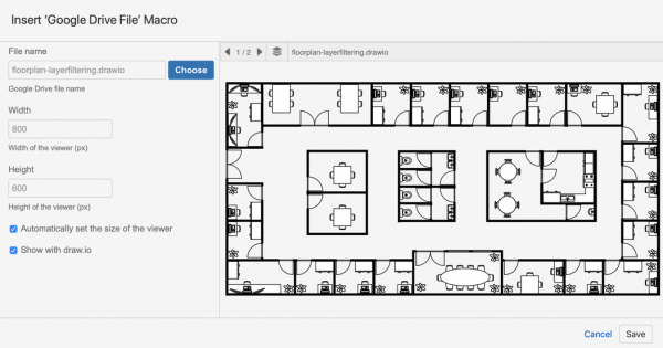 Embed a draw.io file from Google Drive into Confluence