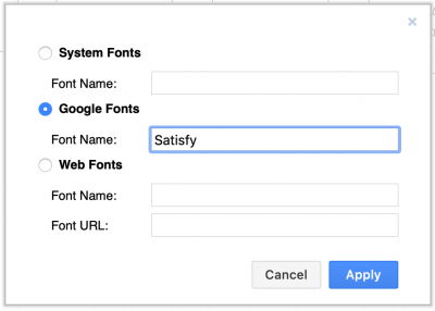 Use a Google font in draw.io