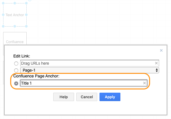 Linking text anchors to draw.io shapes in Confluence Cloud