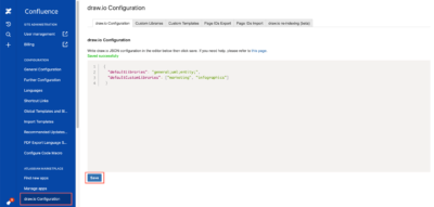 Set a custom shape library to open by default in draw.io for Confluence Cloud