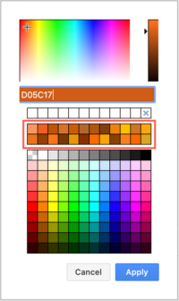 Custom preset colours in draw.io for Confluence Cloud