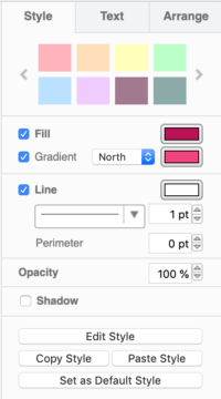 A pastel custom style palette in draw.io for Confluence Cloud