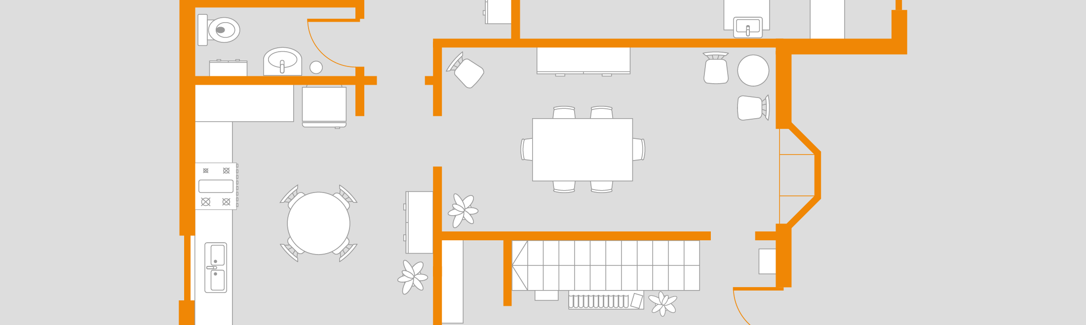 With draw.io you have the possibility to create your own floor plans.