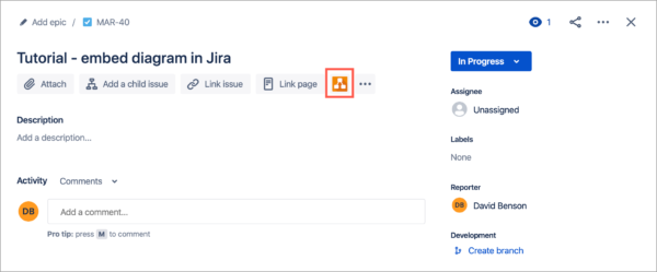 Display the draw.io Diagrams section in Jira Cloud issues