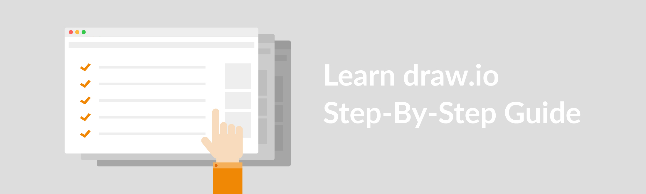 Hands-on training with the draw.io Step-By-Step-Guide