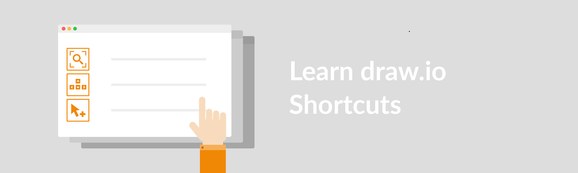 Get things done faster with keyboard shortcuts in draw.io