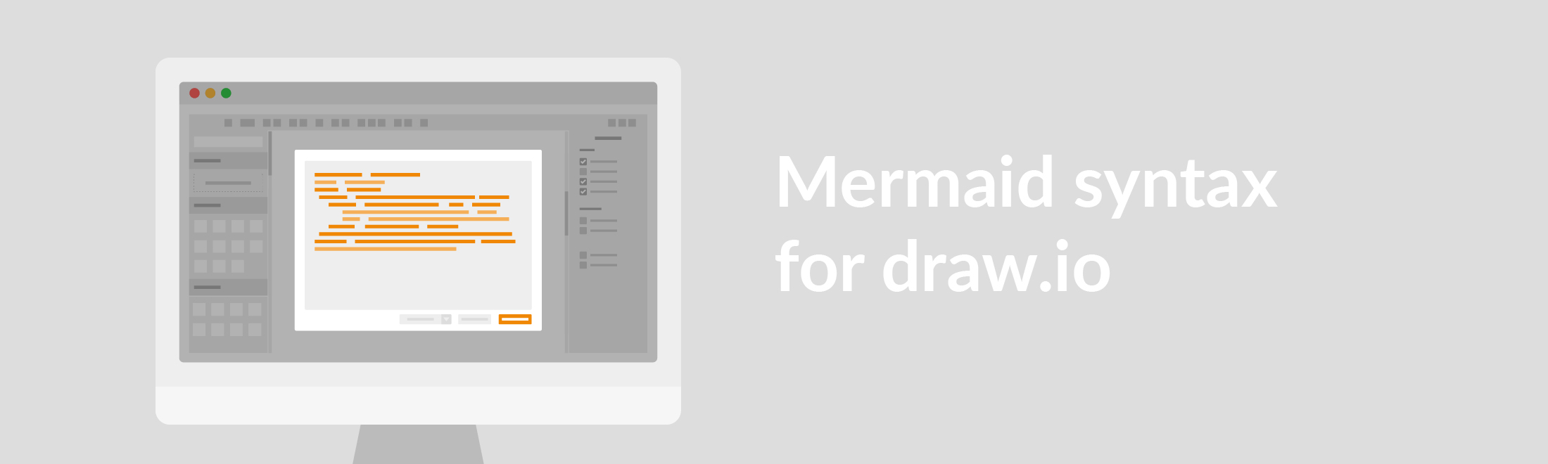 Mermaid syntax for draw.io