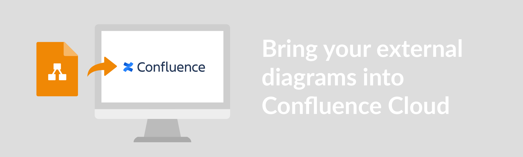 Bring your external diagrams into Confluence Cloud.