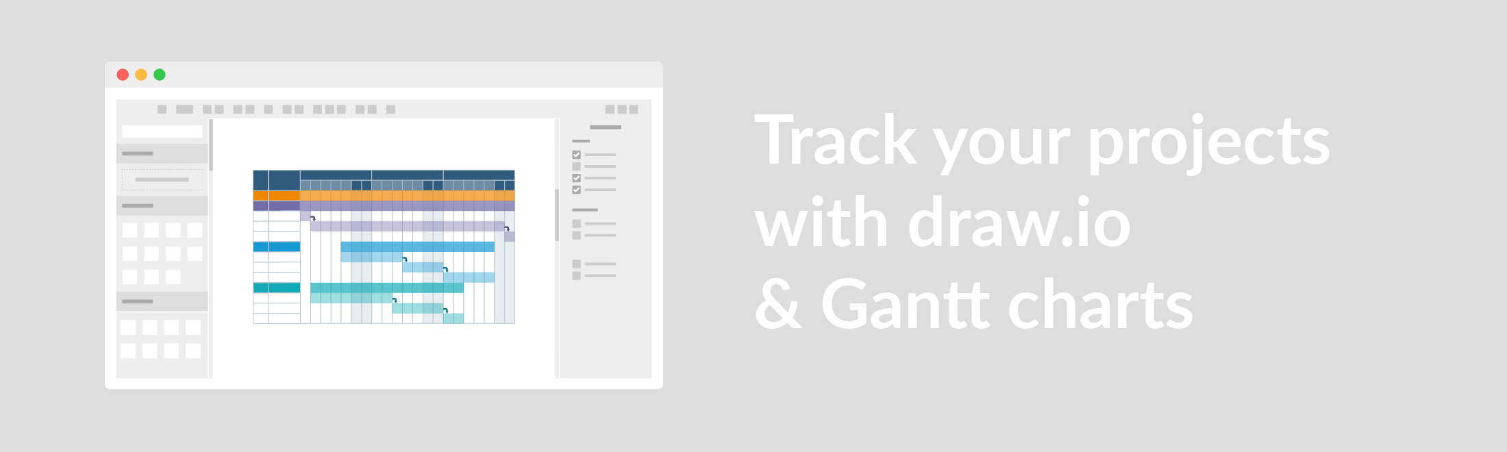 Improve productivity with draw.io Gantt Charts