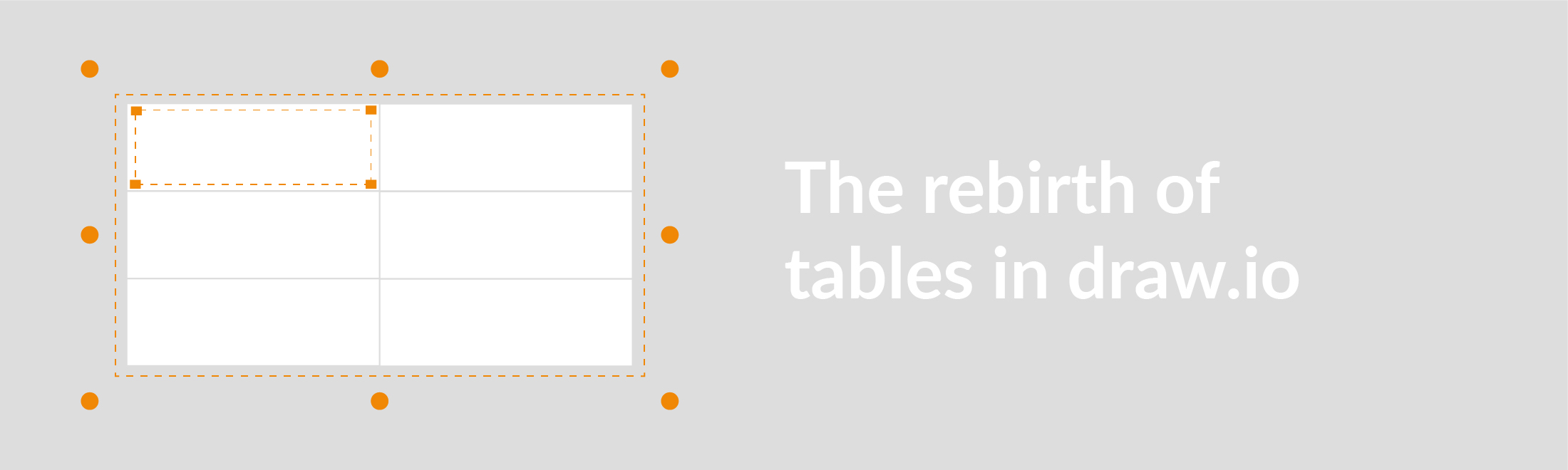 Tables in draw.io got a makeover