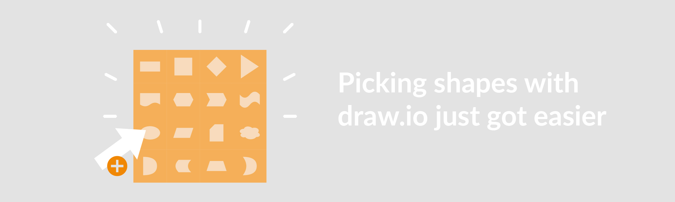 New feature: A shape picker menu for draw.io