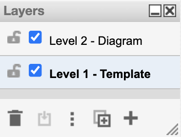 Rename layers in draw.io