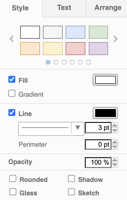 The draw.io Format panel