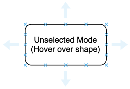 Connector options in unselected mode